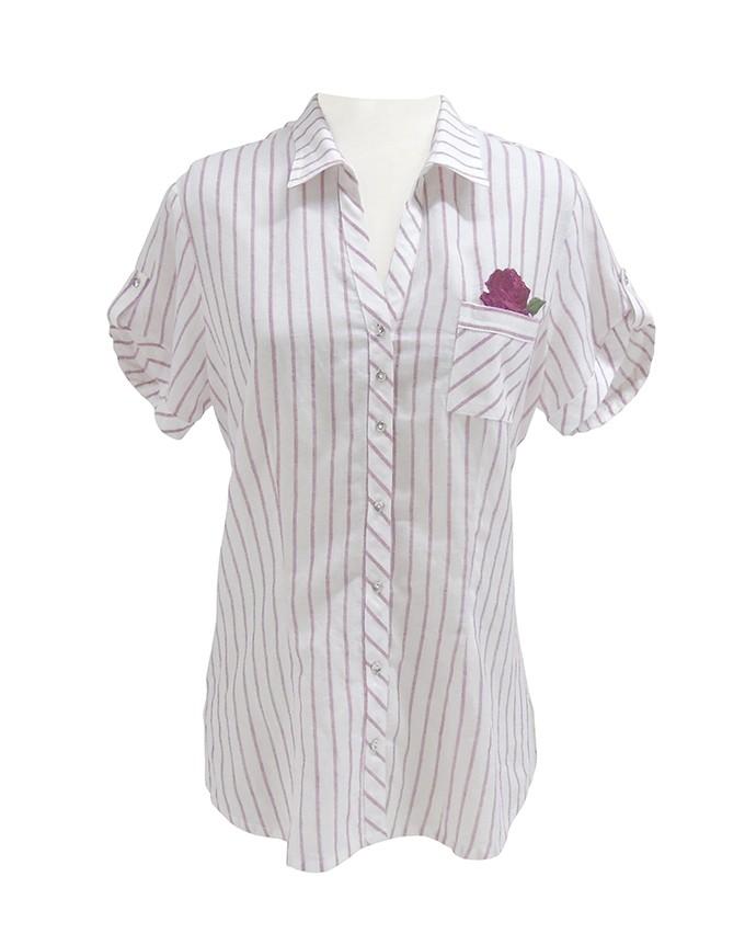 Blusa camisera en rayas
