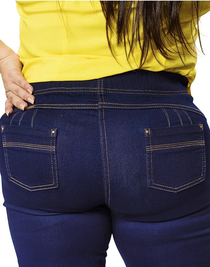 Jeaggin con resorte en cintura