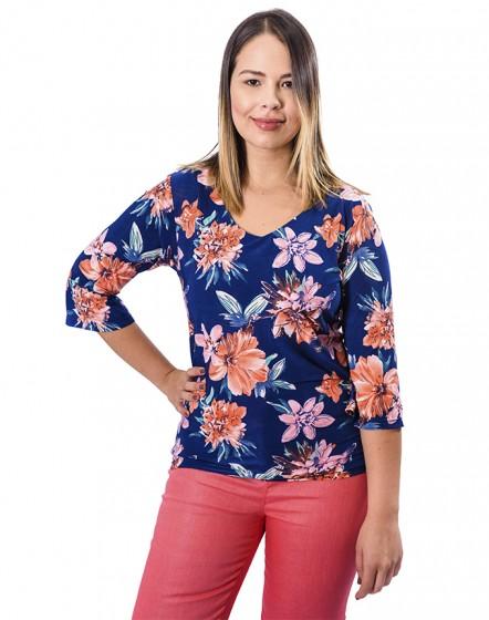 Camiseta estampado flores