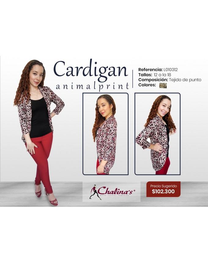Cardigan animal print
